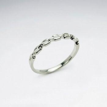 Sterling Silver Interlocking Chain Ring