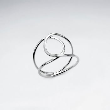 Sterling Silver Interlocking Openwork Ring