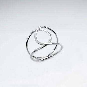 Sterling Silver Interlocking Openwork Ring