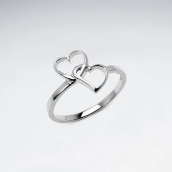 Sterling Silver Intertwined Hearts Ring