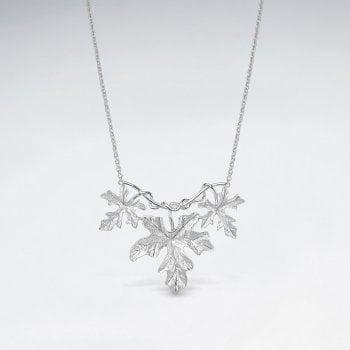 Sterling Silver Ivy Gourd Leaf Necklace