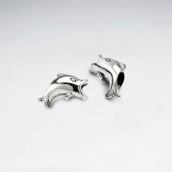 Sterling Silver Jumping Dolphin Beads