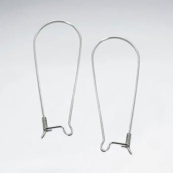 Sterling Silver Kidney Earring Hook Accessories Pack Of 5 Pairs