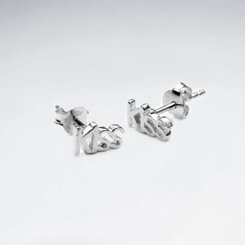 "Sterling Silver ""Kiss"" Earrings"