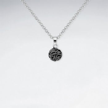 Sterling Silver Knot Button Pendant