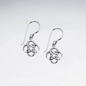 Sterling Silver Knot Dangle Hook Earrings