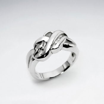Sterling Silver Knot Twist Ring
