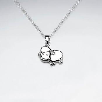 Sterling Silver Lamb Pendant