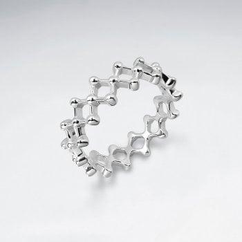 Sterling Silver Lattice Ball Ring