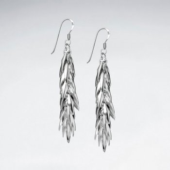 Sterling Silver Layered Dangle Earrings