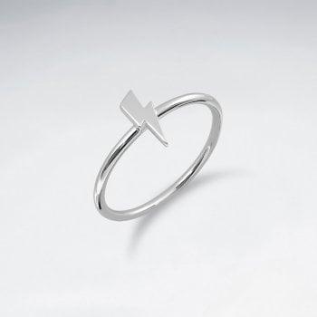 Sterling Silver Lightning Bolt Ring