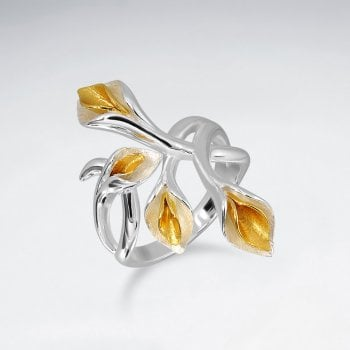 Sterling Silver Lily Flower Bouquet Ring