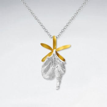 Sterling Silver Lily Flower Necklace Pendant