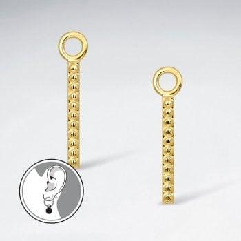 Sterling Silver Linear Charm for Hoop Earrings