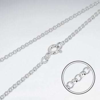 Sterling Silver Link Cable Chain Necklace