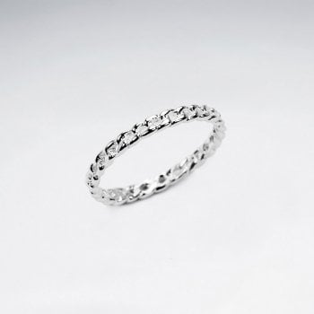 Sterling Silver Link Chain Ring
