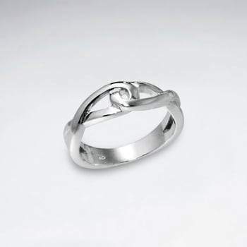 Sterling Silver Linked Eternity Ring
