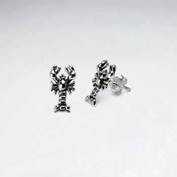 Sterling Silver Lobster Stud Earrings