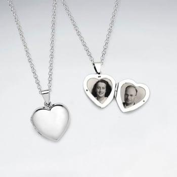 Sterling Silver Locket Heart Pendant