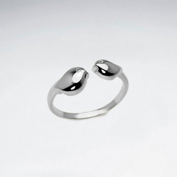 Sterling Silver Love Bird Open Ended Ring