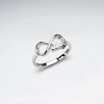 Sterling Silver Love Infinity Ring
