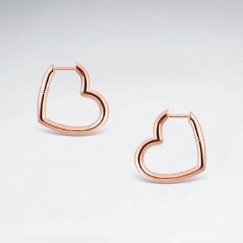 Sterling Silver Love Story Openwork Heart Earrings