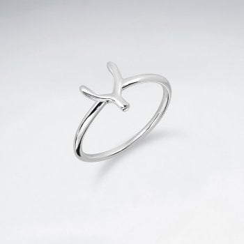 Sterling Silver Lucky Wishbone Ring