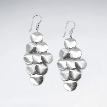 Sterling Silver Marquis Cascade Charm Earrings