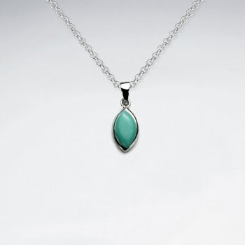 Sterling Silver Marquis Turquoise Pendant