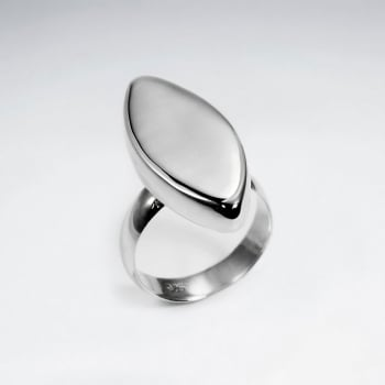 Sterling Silver Marquise Flat  Surface Ring