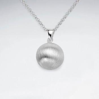 Sterling Silver Matte Ball Pendant