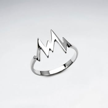Sterling Silver Medical Heartbeat Ring