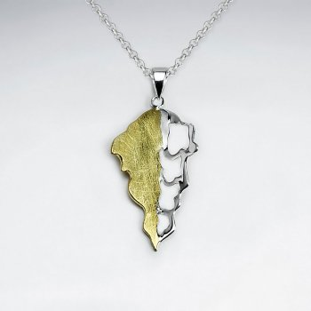 Sterling Silver Melted Arrow Tip Inspired Pendant