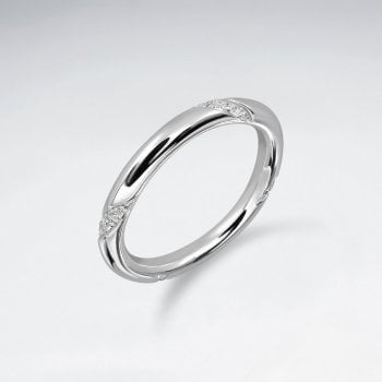 Sterling Silver Minimalist CZ Ring
