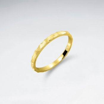 Sterling Silver Minimalist Hammered Ring