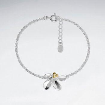 Sterling Silver Mistletoe Bracelet