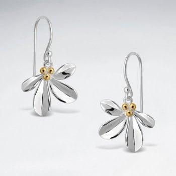 Sterling Silver Mistletoe Hook Earrings