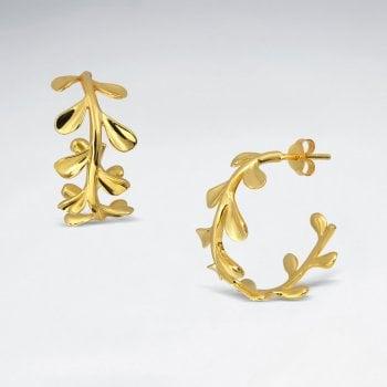 Sterling Silver Mistletoe  Hoop Earrings
