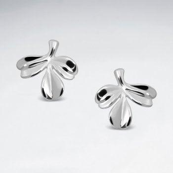 Sterling Silver Mistletoe Stud Earrings