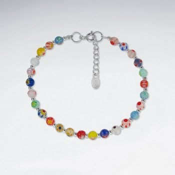 Sterling Silver Mixed Stone Bead Bracelet