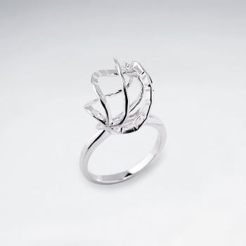 Sterling Silver Modern Abstract Ring