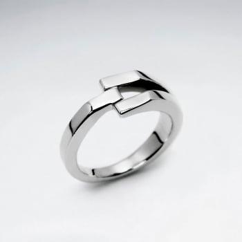 Sterling Silver Modern Geometric Ring