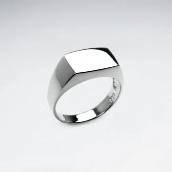 Sterling Silver Modern Lines Fashion Ring