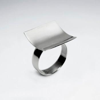 Sterling Silver Modern Square Design Ring
