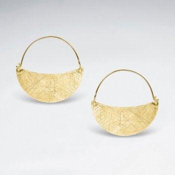 Sterling Silver Modernist Geometric Hoop Earrings