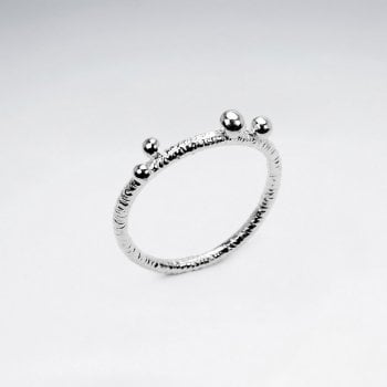 Sterling Silver Multi-Ball Ring