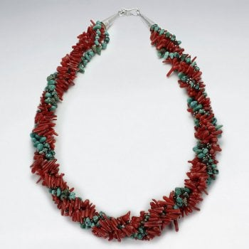 Sterling Silver Multi-Strand Beaded Statement Necklace