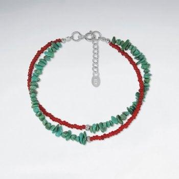 Sterling Silver Multi-Strand Turquoise Bracelet