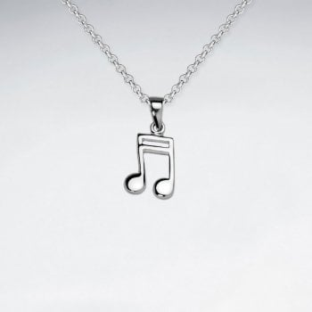 Sterling Silver Musical SemiquaverNote Pendant