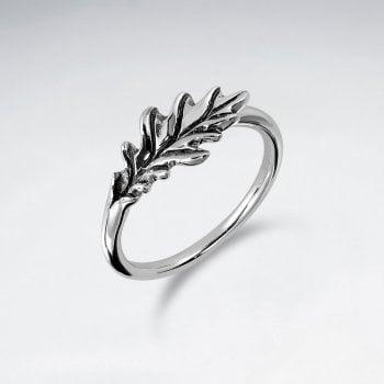 Sterling Silver Nature Oak Leaf Ring